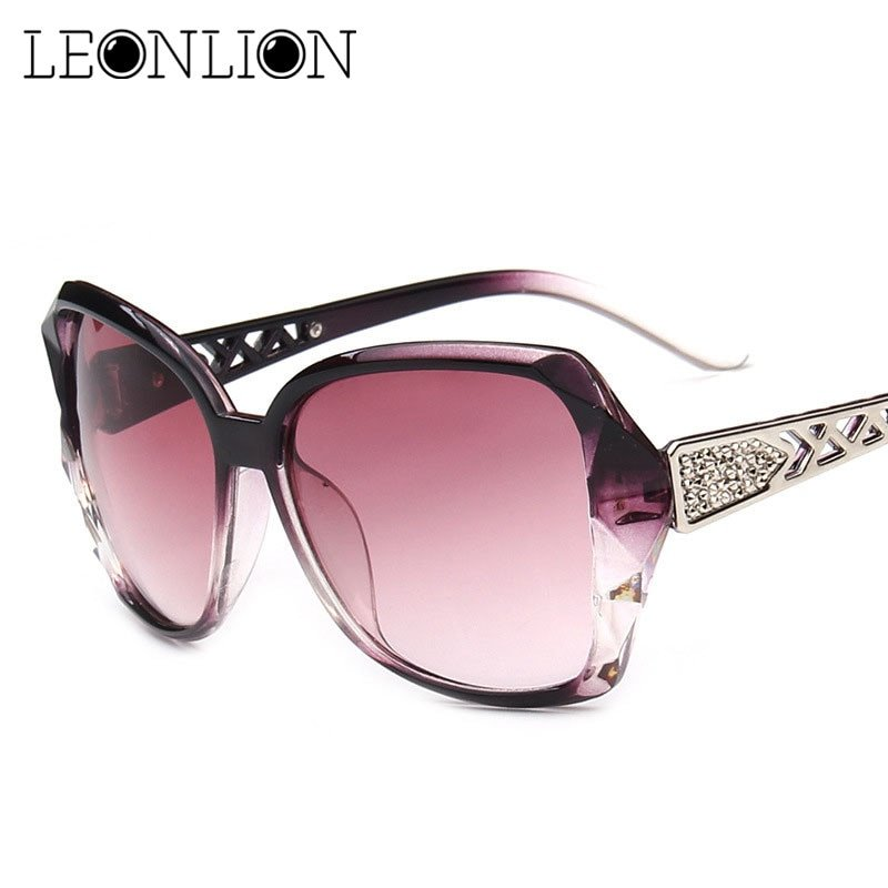 Cat Eye Big Plastic Frame & Acrylic Anti-Reflective Lens Sunglasses