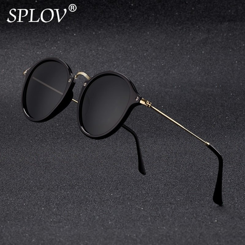 Gradient Polarized Lenses & Plastic Frames Round Sunglasses with UV400 test