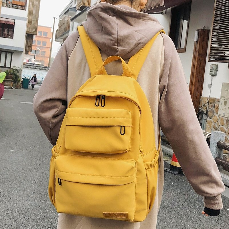 Nylon Waterproof & Multi Pocket Backpack with Computer Interlayer
