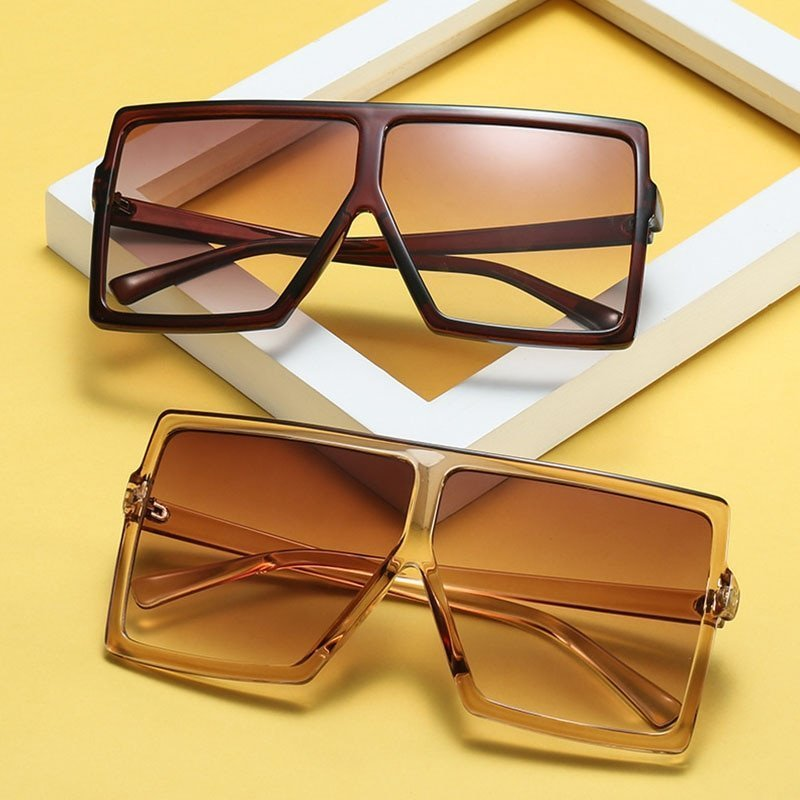 Big Frame Gradient Anti-Reflective Lenses & Plastic Frames Sunglasses