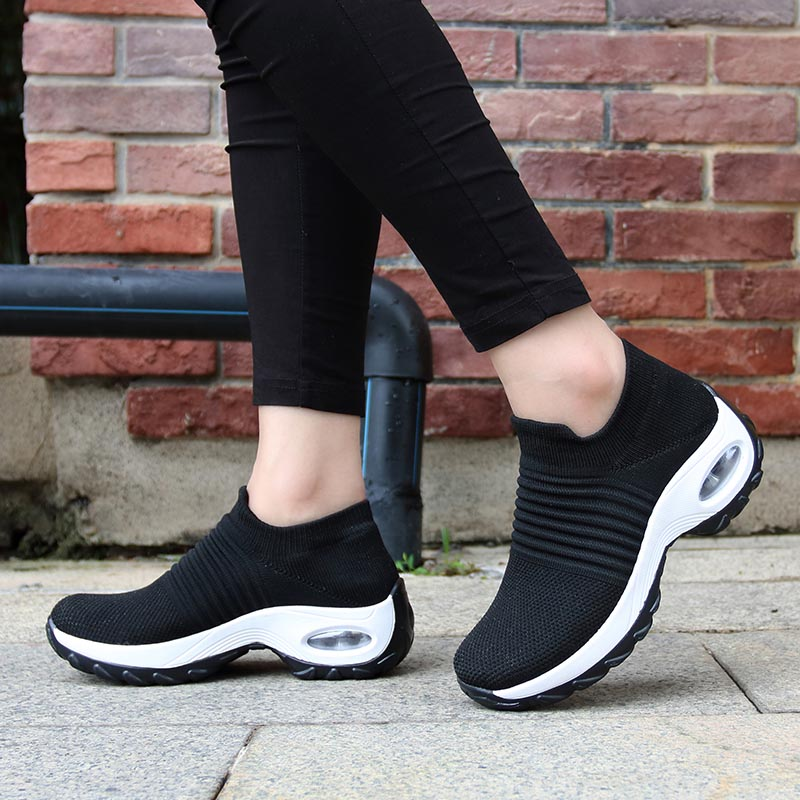 Sneakers Soft Comfortable & Slip-on Flats Shoes with Air mesh