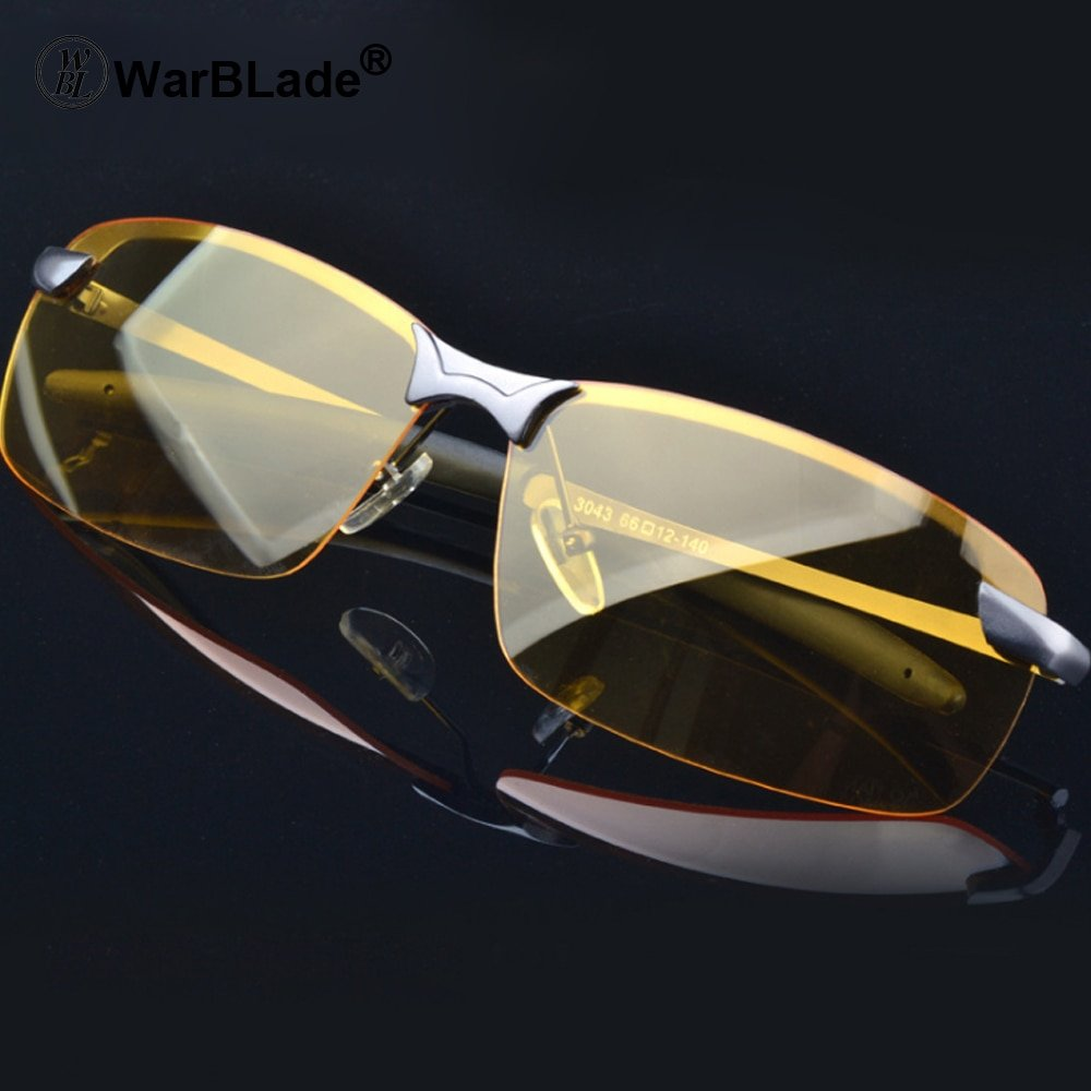 Polarized Yellow Lense & High-end Plastic Frames Night Vision Driving Glasses