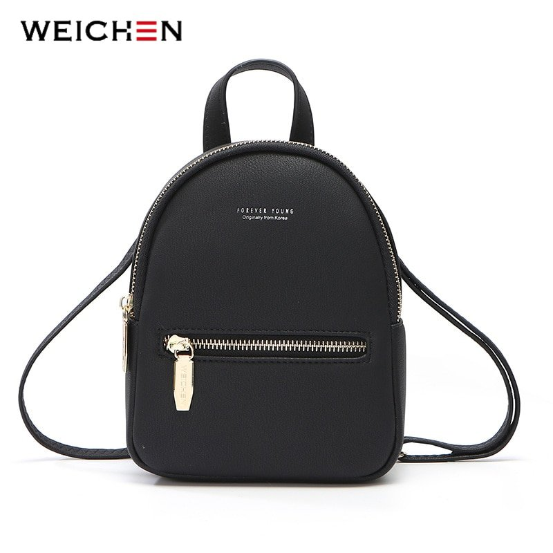 Soft Touch Multi-Function Small Backpack with Arcuate Shoulder Strap