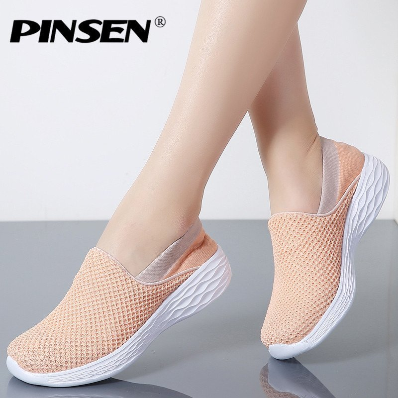 Casual Round Toe Shape & Synthetic Lining Air mesh Flat Sneakers Shoes