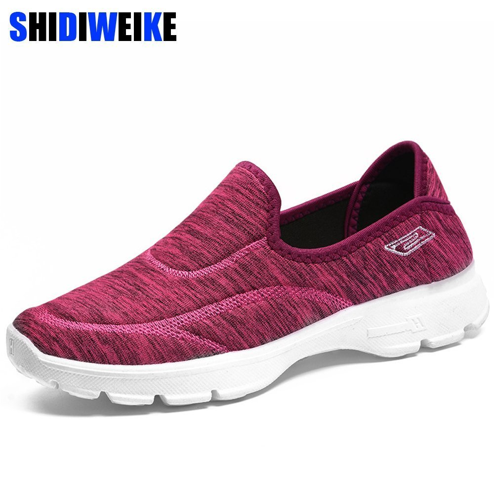 Slip On Breathable & Synthetic leather Stretch Cloth Flat Shoes with Round Toe