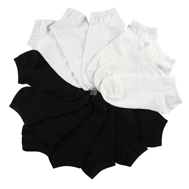 7Pair Low Cut Solid Color & Soft Breathable Ankle Length Short Cotton Socks