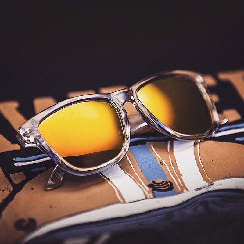 Clear Plastic Frames & Polarized Polycarbonate Lens Sunglasses
