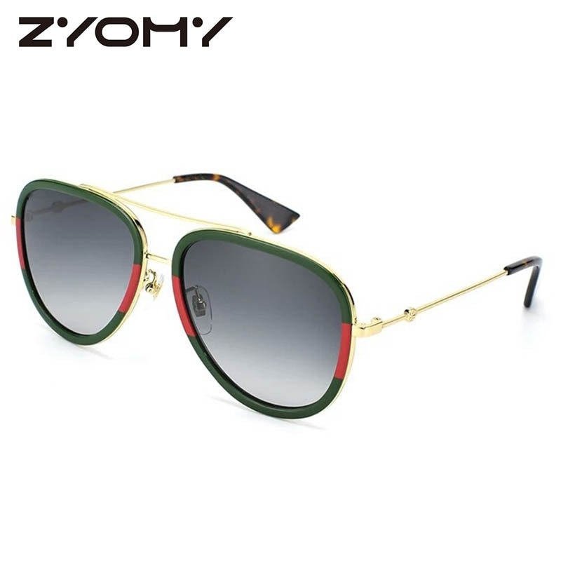 Acrylic Lenses & Alloy Metal Frames UV400 Treated Oval Sunglasses