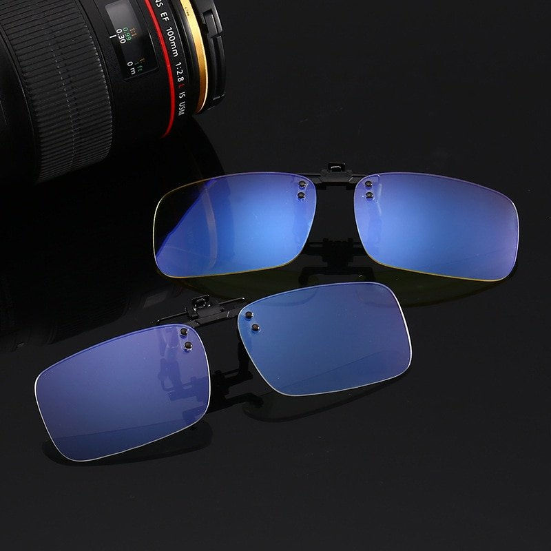 Anti blue Ray light blocking Clip On Glasses Near-Sighted & Night Vision Lens
