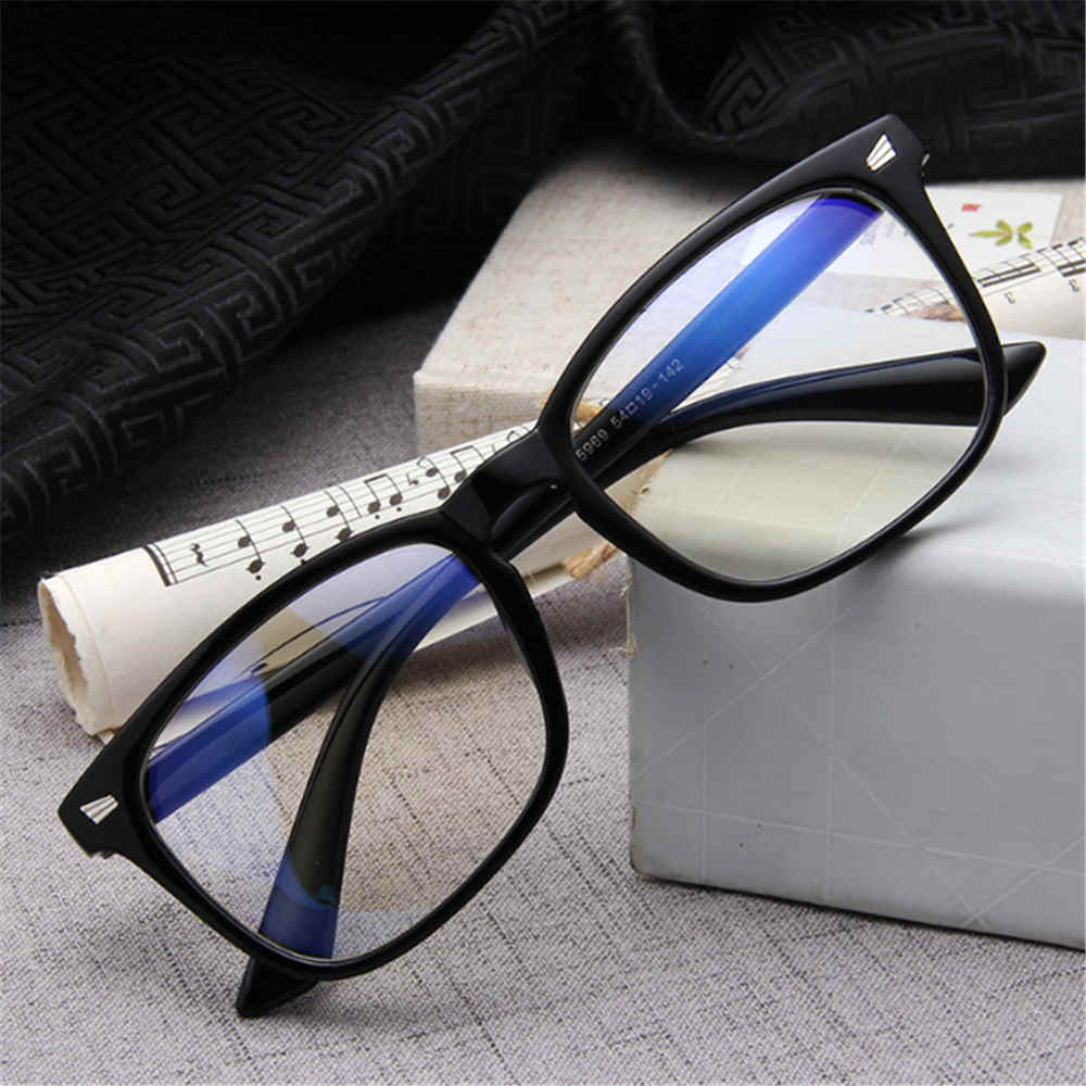 Transparent Computer Glasses Plastic Frame & Anti Blue Ray Clear Lens Eyeglasses