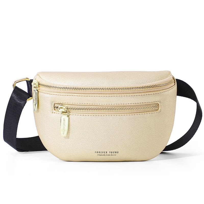 Multi-functional Pillow Shape PU Leather & Solid Pattern Waist Packs