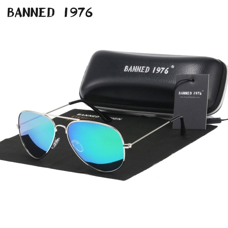 Stainless Steel Frame & Anti-Reflective Polarized Lens Sunglasses
