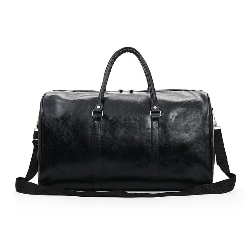 Solid Pattern PU Leather Waterproof & Soft Travel Hand Bag with Adjustable Strap