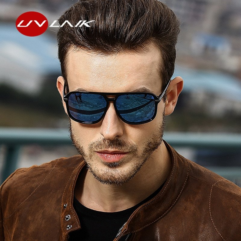 Polycarbonate Polarized Lenses & Resin Frame Sunglasses with Anti-Reflective