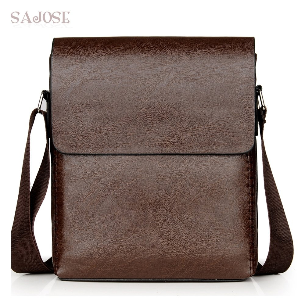 Solid Pattern PU Leather + Polyester Lining & Soft Crossbody Bags with zipper