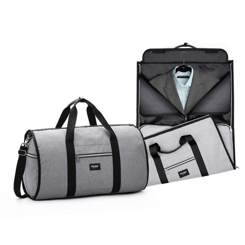 Solid Pattern Oxford + Polyester Waterproof  & Soft Travel Luggage Bags