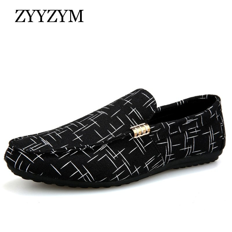 Geometric Pattern Lightweight & Canvas + EVA Loafers Shoes with Flat Heel
