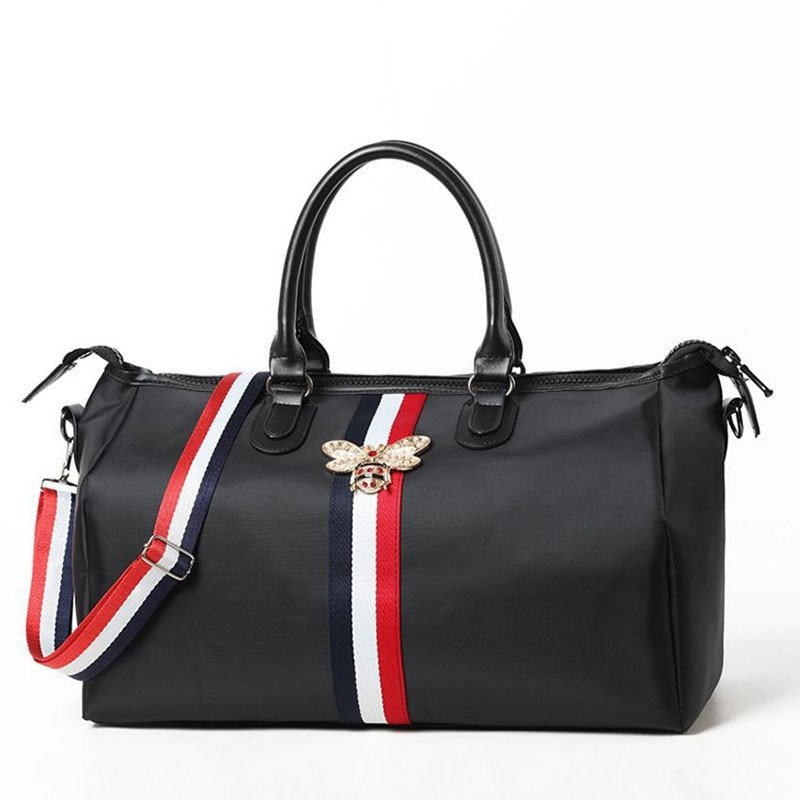 Black Color Dual Size Oxford & Soft Travel Hand Luggage with zipper