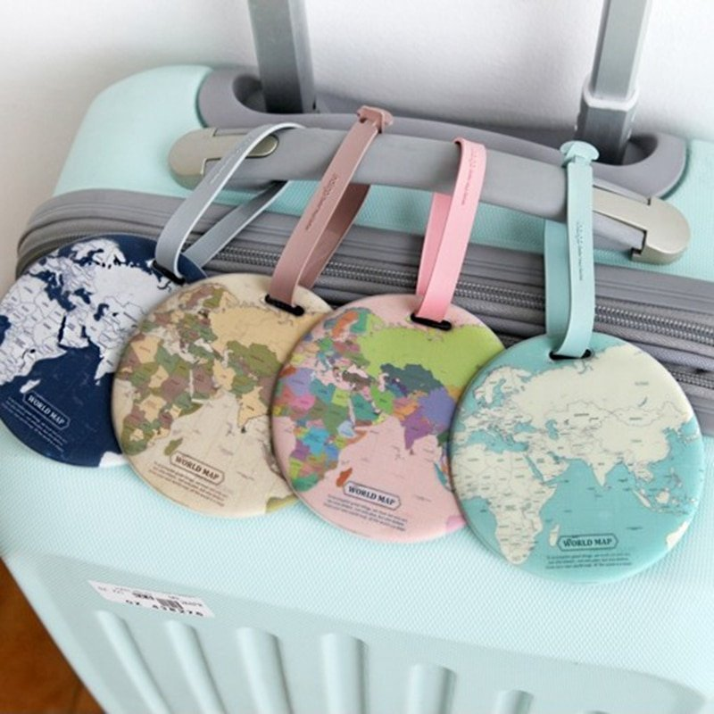 Travel Luggage Tag Ornamental Round Lace PU Leather Baggage Suitcase Travel ID