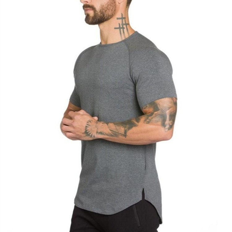 Casual Stetchable O-Neck & Short Sleeve Cotton T-Shirt Slim Fit