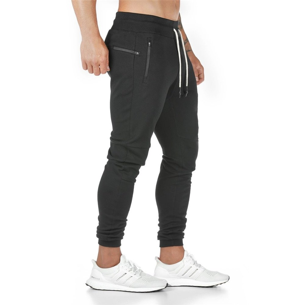 Solid Color Cotton + Polyester & Mid Waist Sweatpants with Elastic