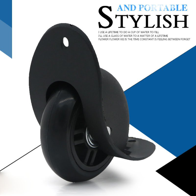 Black Color Plastic Luggage Replacement Wheel Accessories for Travel Suitcases