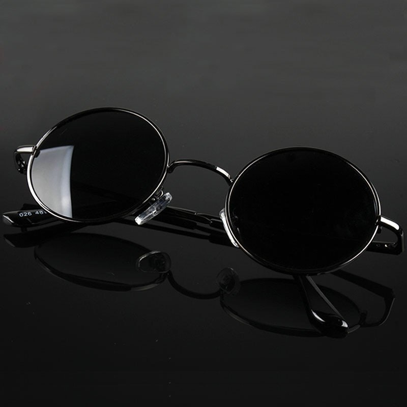 Alloy Metal Frames & Acrylic Polarized Lens Sunglasses with Round Shape