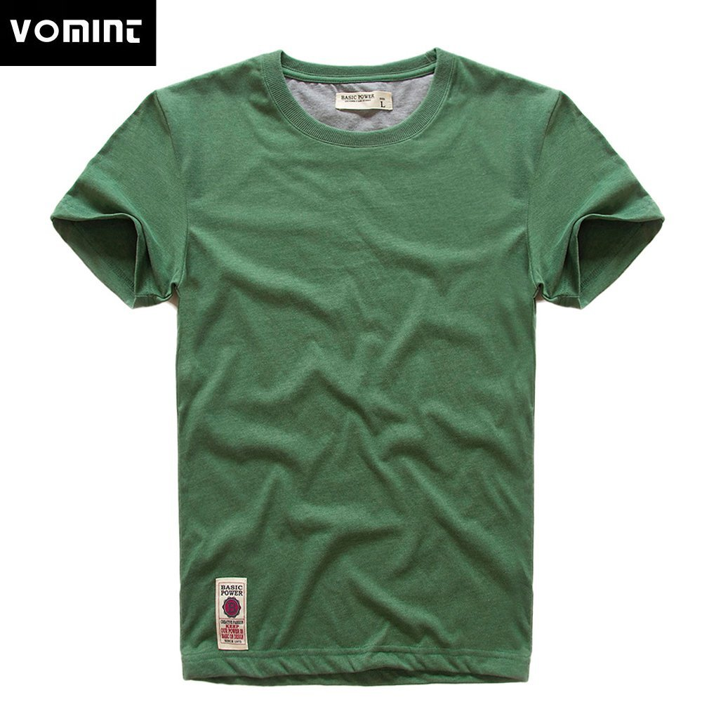 New Casual Round Neck & Half Sleeve Cotton T-Shirt with Solid Color