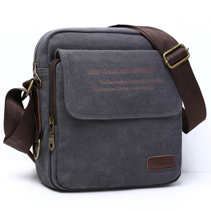 Casual Canvas + Polyester Lining & Soft Crossbody Bag with Interior Compartment