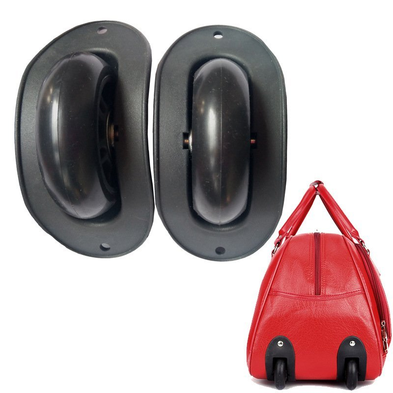 Black color Plastic Travel Luggage Fixed Wheel Replacement Accessories