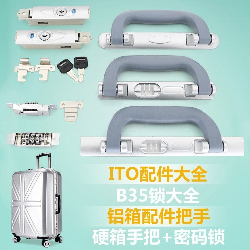 Zinc Alloy Bags Accessories for Travel Luggage Key/Coded Lock Set