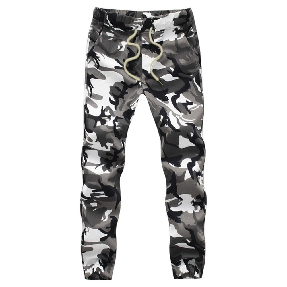 Plus Size 5XL Mid Waist & Midweight Cotton Sweatpants with Woven Fabric