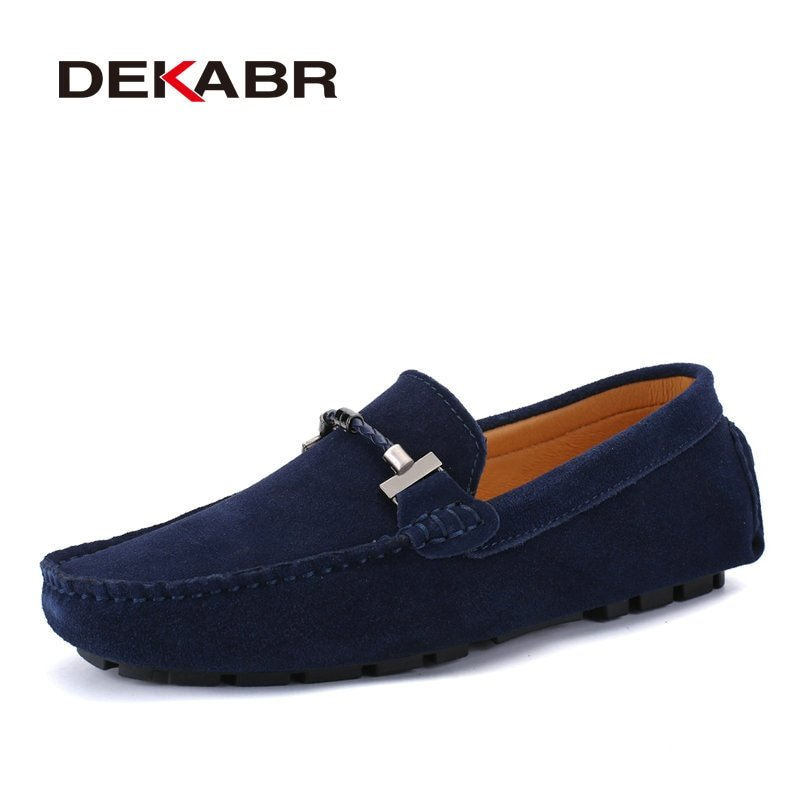 Flat Heel Plus Size 13 & Rubber + PU Lining & Soft Loafers Shoe with Slip-on
