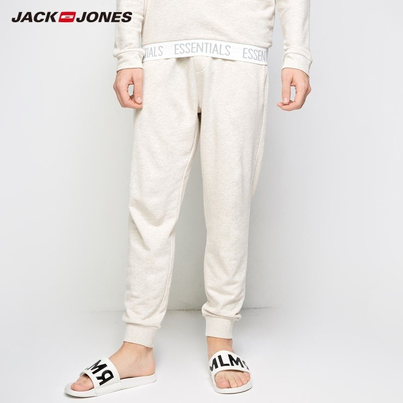 Loose Fit Cotton + Jersey Fabric & Full Length Sweatpants with Pockets