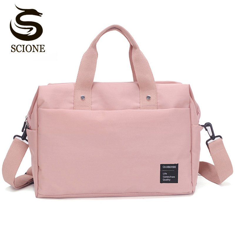 Solid Pattern Nylon waterproof  & Soft Travel Hand Luggage with zipper