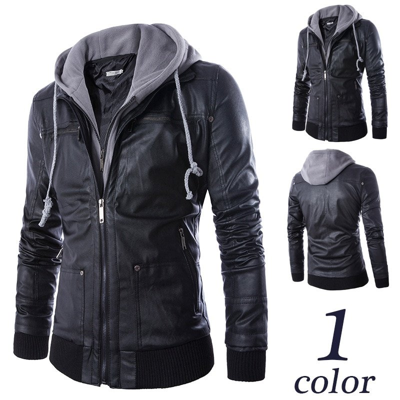 New Casual Plus Size 4XL & Thick Faux Leather Jackets with zippers
