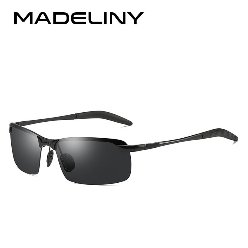 Black Color Metal Alloy Frames & Photochromic Lens Sunglasses with Square Shape