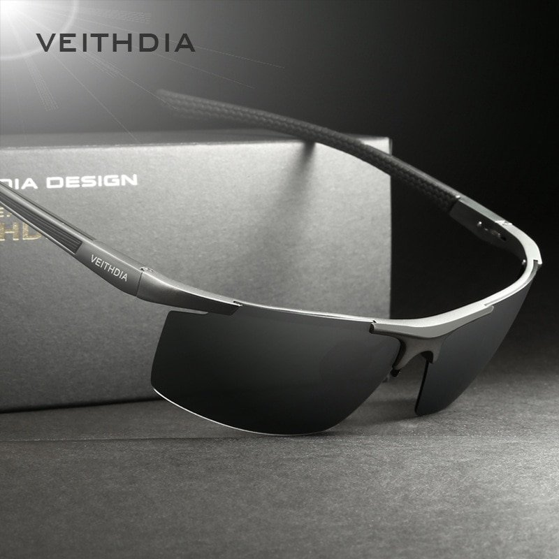 Aluminum Magnesium Frames & Polycarbonate Lens Sunglasses with Polarized