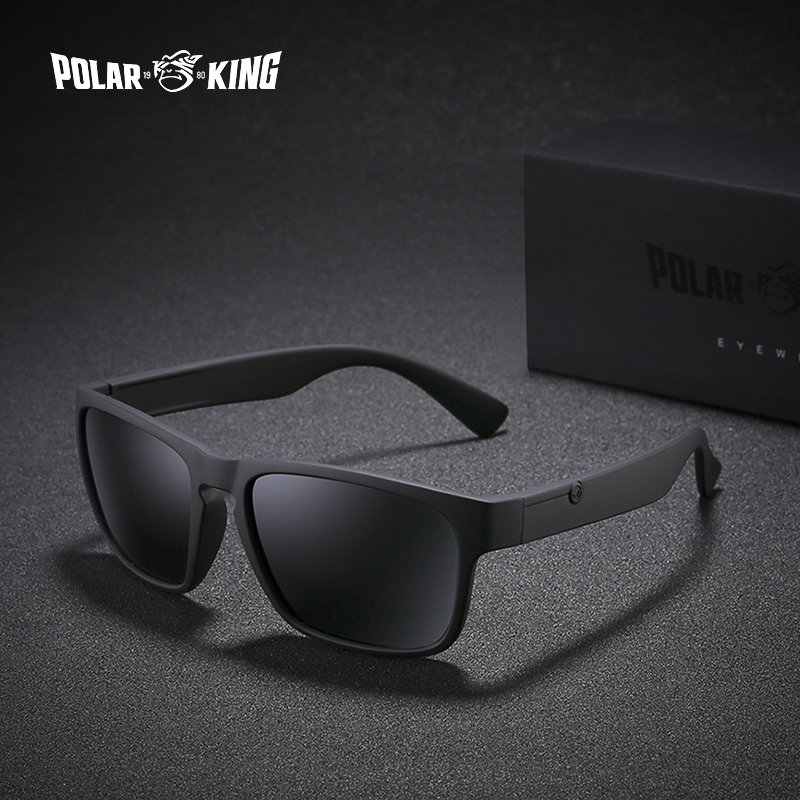 Polarized Polycarbonate Lenses & Black/Brown Plastic Frame Sunglasses