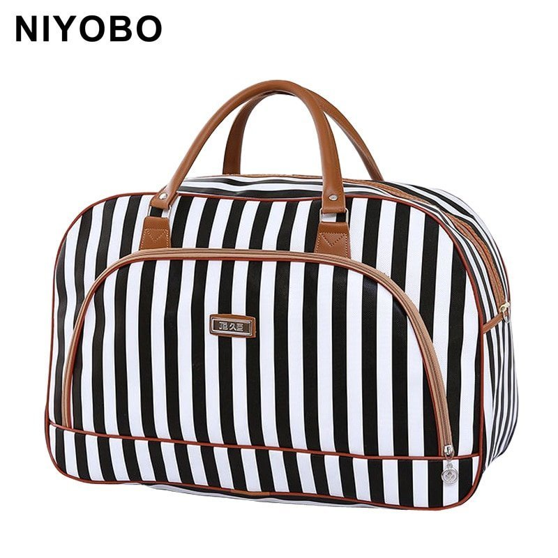 Large Capacity Pu Leather & Waterproof Travel Luggage Bags with Prints