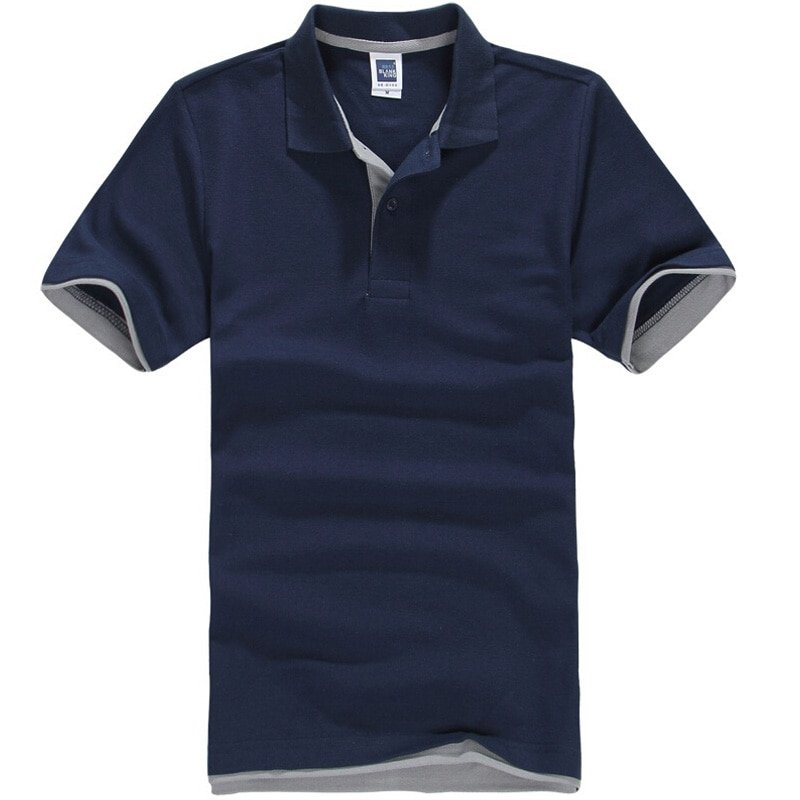 Solid Pattern Short Sleeve & Turn-down Collar T-Shirts with anti-wrinkle