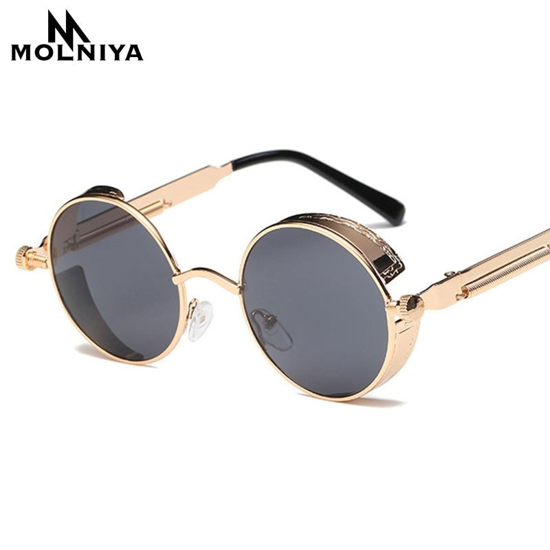 Multi-Color Polycarbonate Lenses & Alloy Metal Frame Sunglasses with UV400