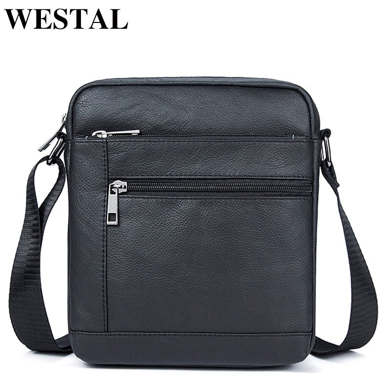 Black/Coffee Color Soft & Genuine Leather Flap Shape Crossbody Bags with zipper