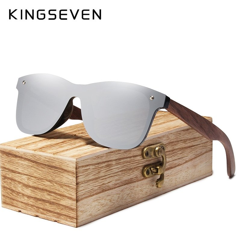Polycarbonate Polarized Lenses & Bamboo Wooden Frame Sunglasses Eyewear