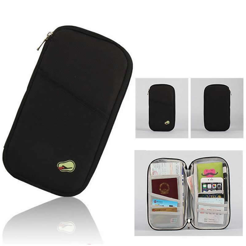 Barrel Shape Polyester Card  Holder & Passport Cover Travel Accessories