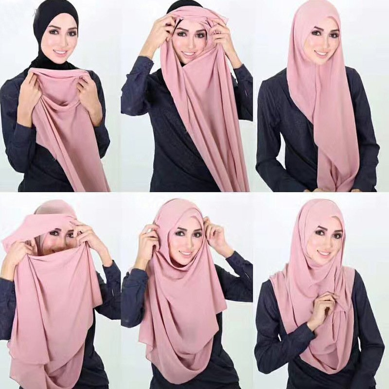 Polyester + Jersey Fabric Breathable & head Wrap Instant Hijab