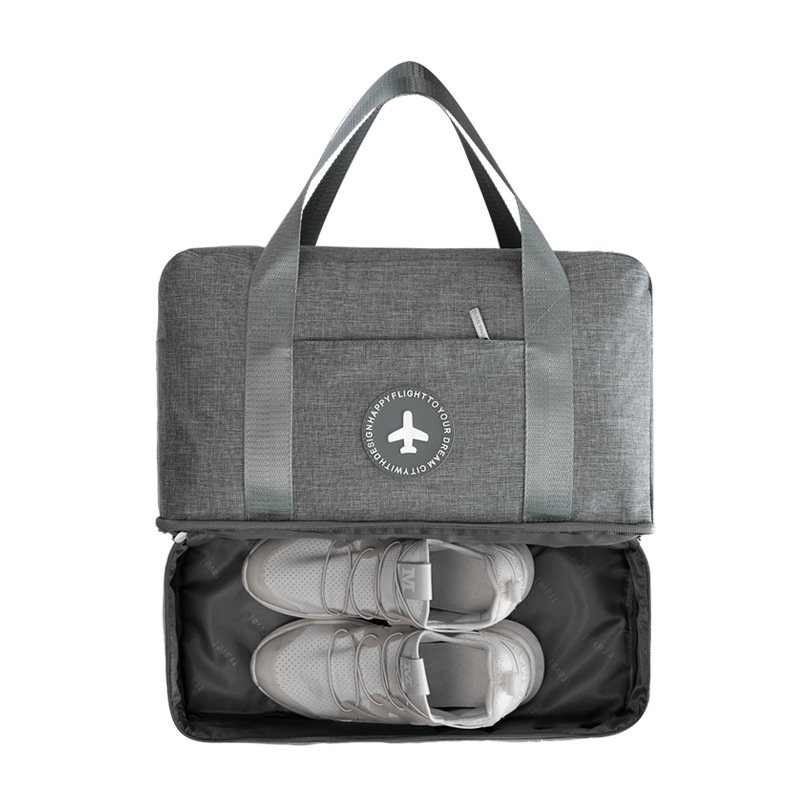 Double Layer Cation Fabric & Soft Travel Luggage Bags with Small Pockets