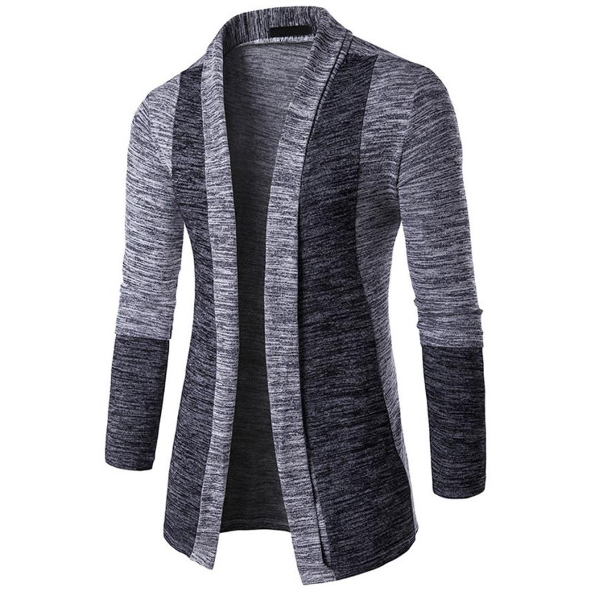 Open Stitch V-Neck & Cotton Thick Warm Wool Blends Outercoats