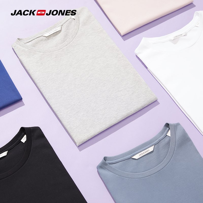 Spandex + Cotton Round Neck & Short Sleeve T-Shirt with Jersey Fabric