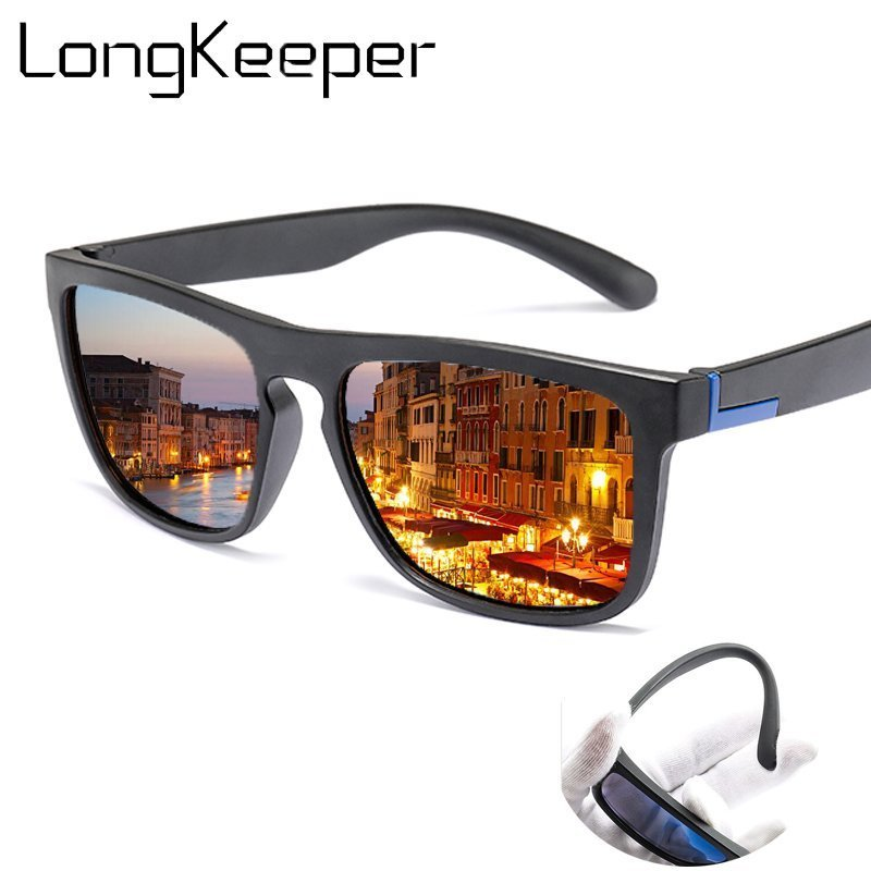 Acetate Flexible Frames & Polaroid Anti-Reflective Lens Sunglasses with Anti-UV